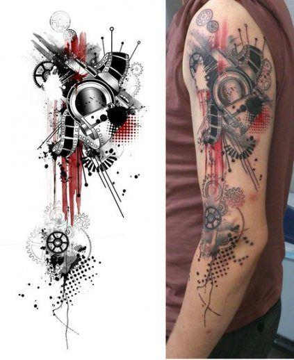 Photo of Tattoo Ärmel geometrische Männer 49+ Ideen