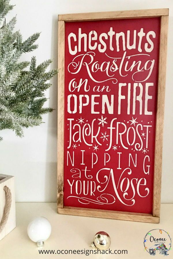 youve found it in this unique hand painted chestnuts roasting wood sign it also makes a great gift for anyone who loves classic christmas songs - Unique Christmas Songs
