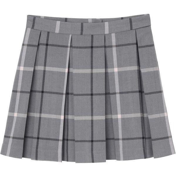 1997fa6596 Monki Melina skirt ($33) ❤ liked on Polyvore featuring skirts, mini skirts,  bottoms, clothes - skirts, thunder cloud melange, zipper mini skirt, ...