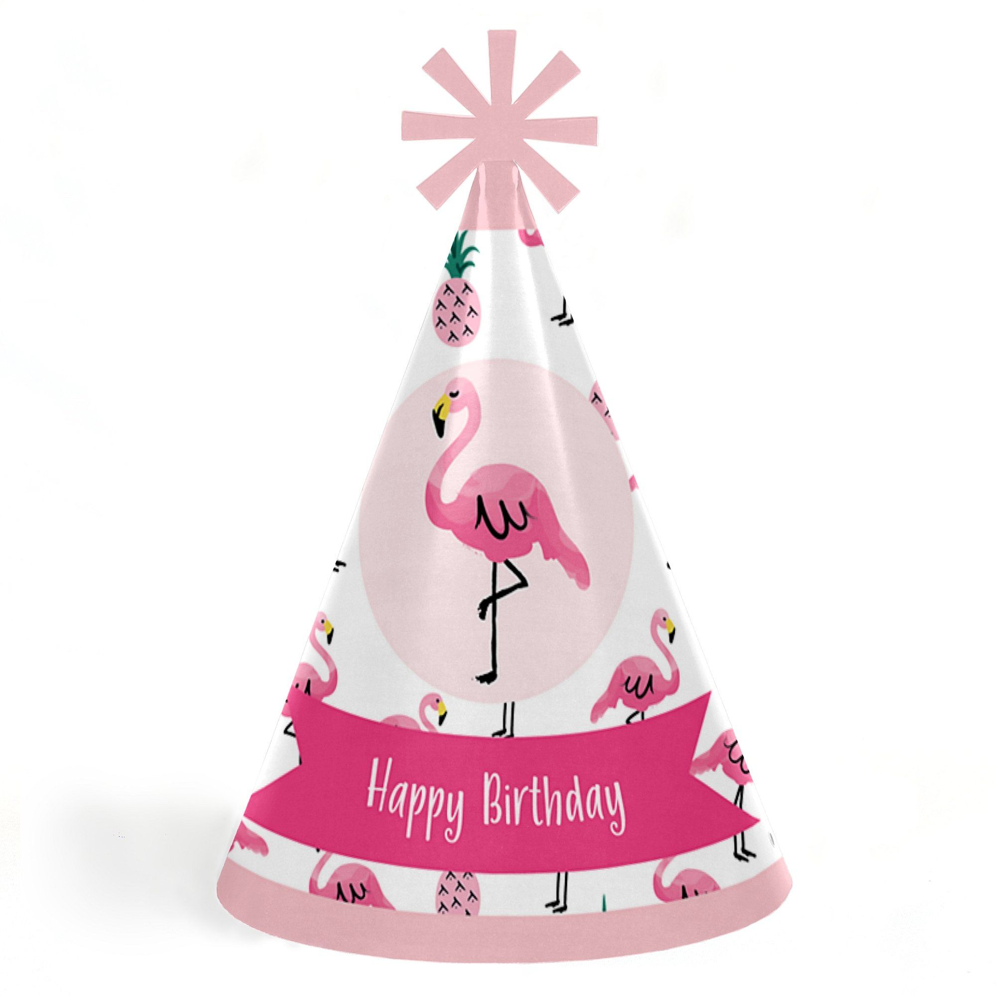 Pink Flamingo Party Like A Pineapple Tropical Summer Cone Happy Birthday Hats For Kids And Adults Set Of 8 Standard Size Check Out This Great
