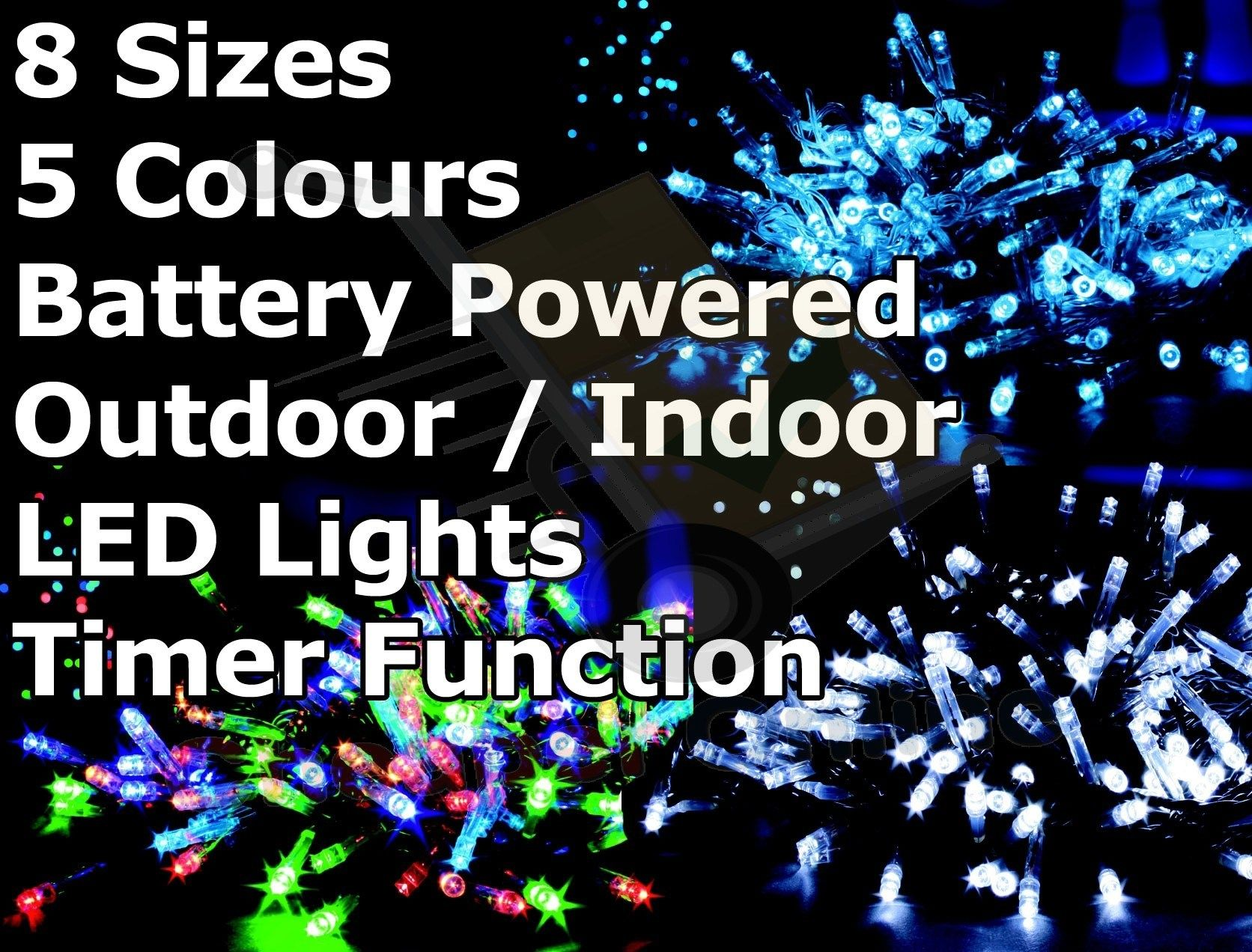 outdoor battery operated led lights with timer