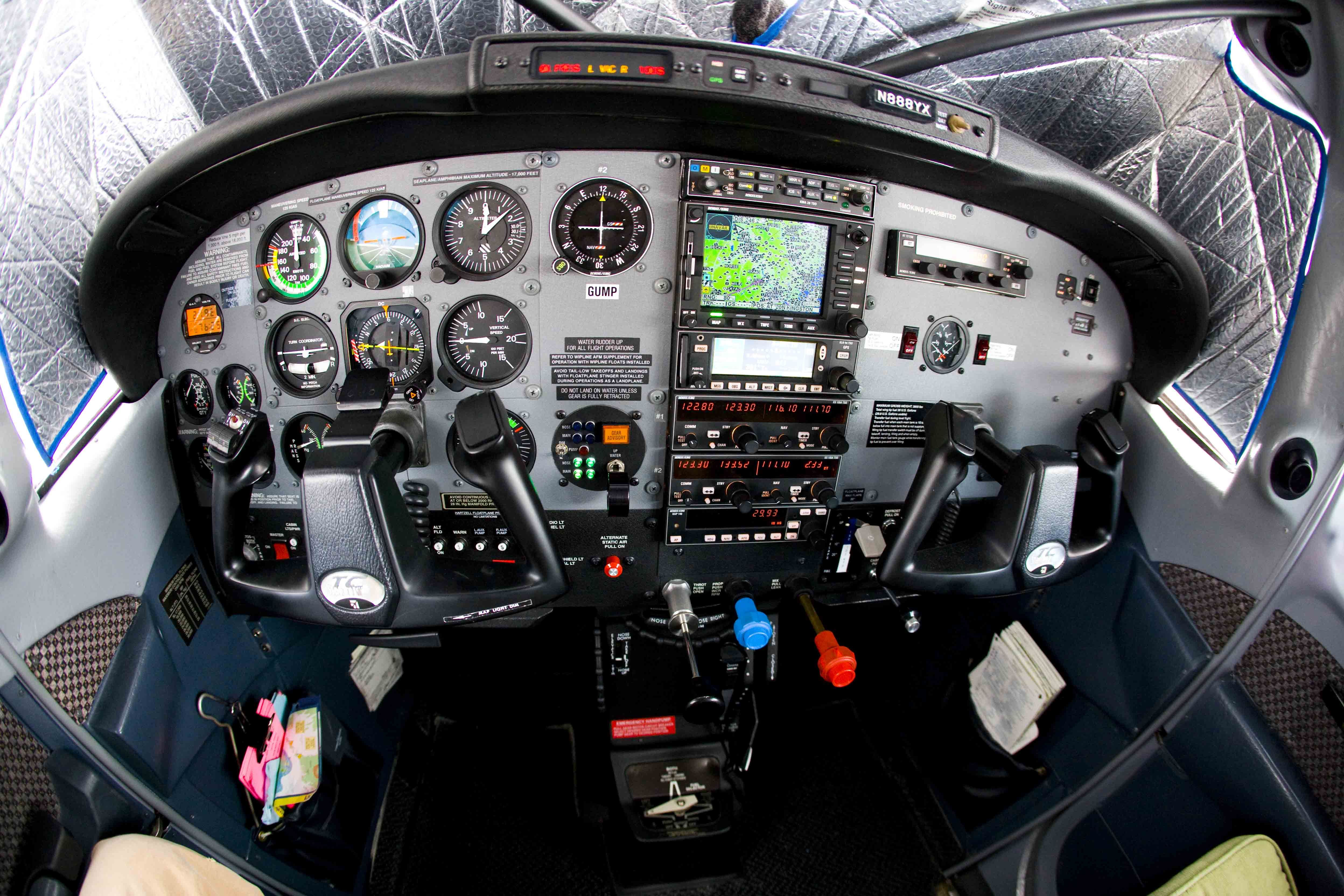 Matt's Cessna 206 instrument panel in EDGE OF TRUST