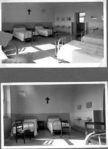 Habitaciones de pacientes en el Hospital Novoa Santos. Año ...