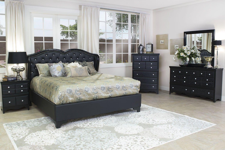 Mor Furniture for Less: Eva Queen Upholstered Bed | Mor ...