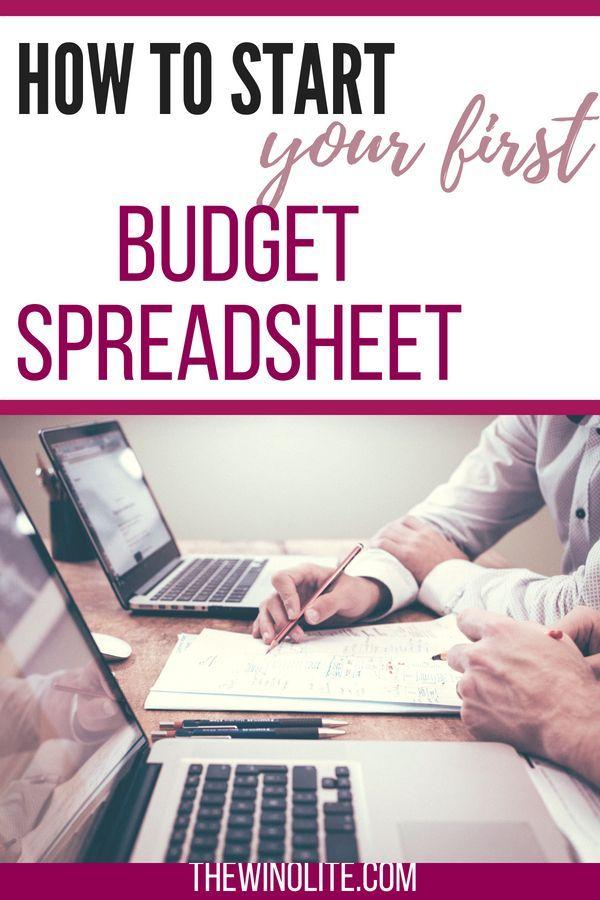 How to Set Up a Budget Spreadsheet Pinterest Student loan debt