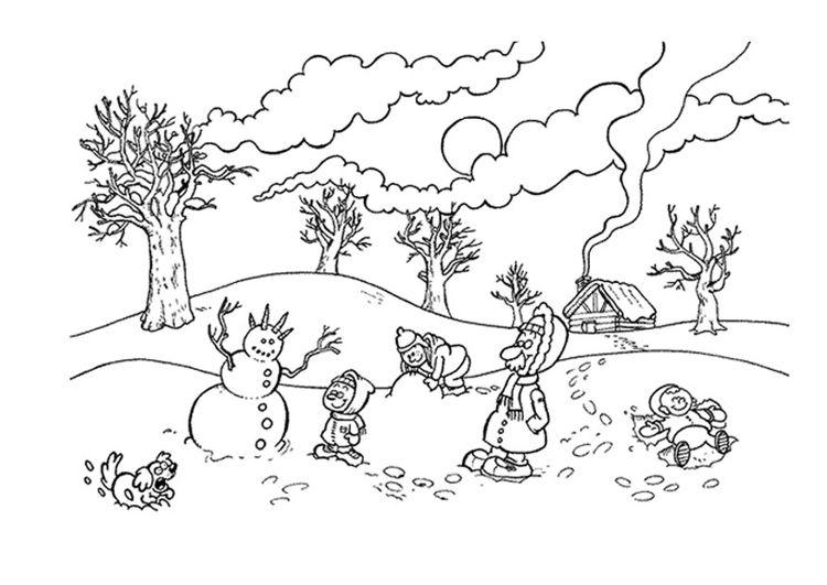 winter ausmalbilder für kinder coloring malvorlagen