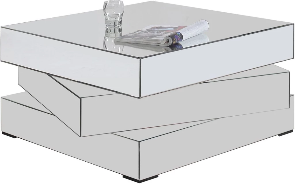 Haven Mirrored Contemporary Square Coffee Table With Images