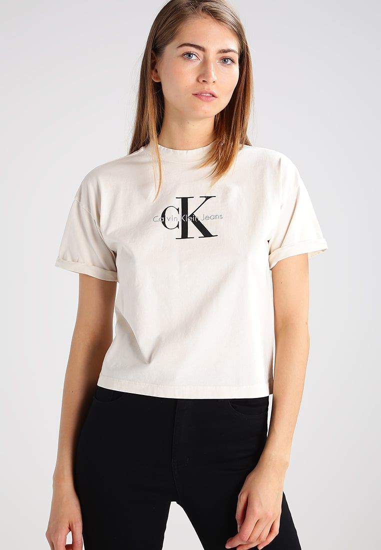 111a7ee1c6d2a9 Elegant Calvin Klein Fashion for Women Calvin Klein Fashion for Women  calvin klein jeans print t-shirt - natural women clothing tops u0026 t- shirts,calvin ...