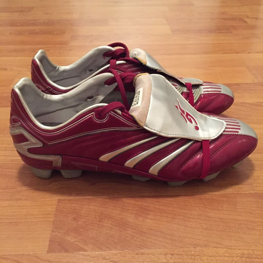 4dd95b4c8570 Adidas Predator Absolion TRX FG Football Soccer Cleats Boots Red Silver US  8