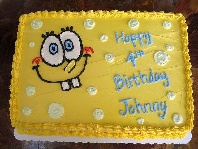 Spongebob cake with Buttercream Looky what I made Pinterest