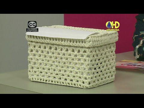 Porta Papel Toalha De Croche Endurecido Crochet Basket Tutorial