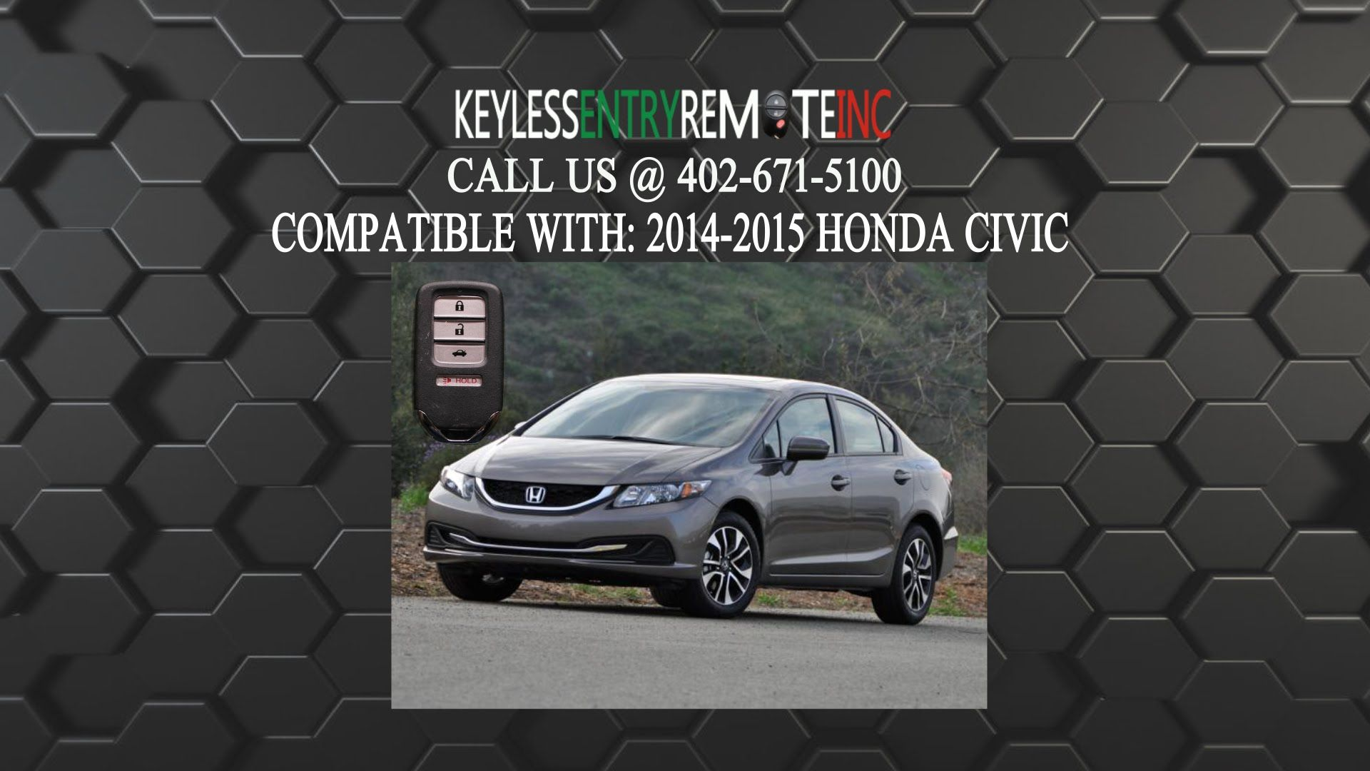 How To Replace Honda Civic Key Fob Battery 2014 2015
