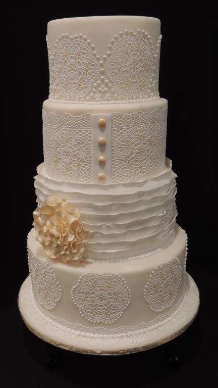 Fondant Ruffled Rose Cake Tutorial Member Video Rose Cake Tutorial Fondant Ruffles Rose Cake