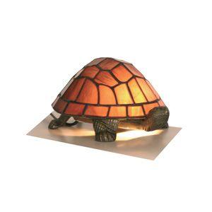d9d8239123d Oaks OT 950 PU Purple Tiffany Tortoise Table Lamp