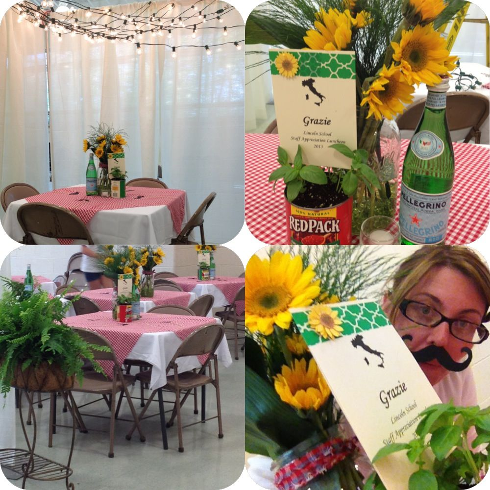 Tuscan Themed Party Decorations