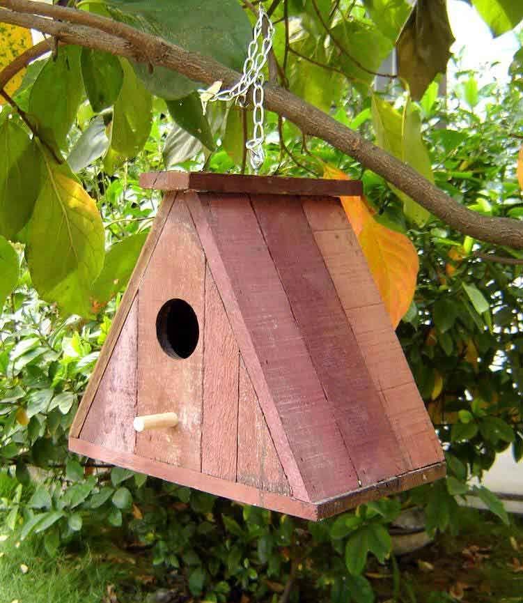 French oak bird house birds in my habitat pinterest for How to build a wooden bird feeder
