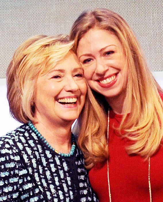 Famous Families: Like Mother, Like Daughter - Hilary and Chelsea Clinton from #InStyle