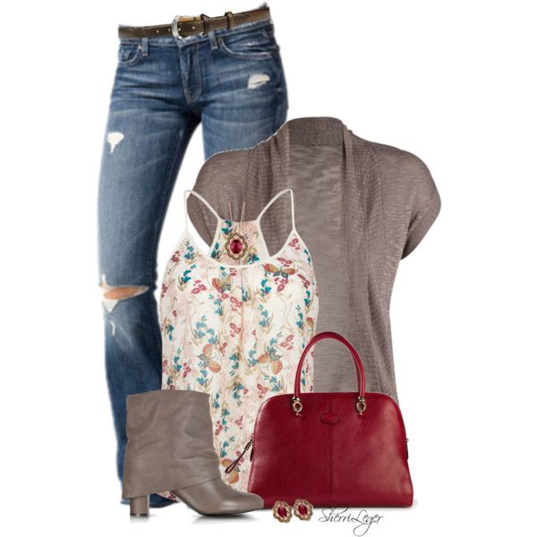 A fashion look from July 2014 featuring Full Tilt cardigans, Full Tilt tops and 7 For All Mankind jeans. Browse and shop related looks.