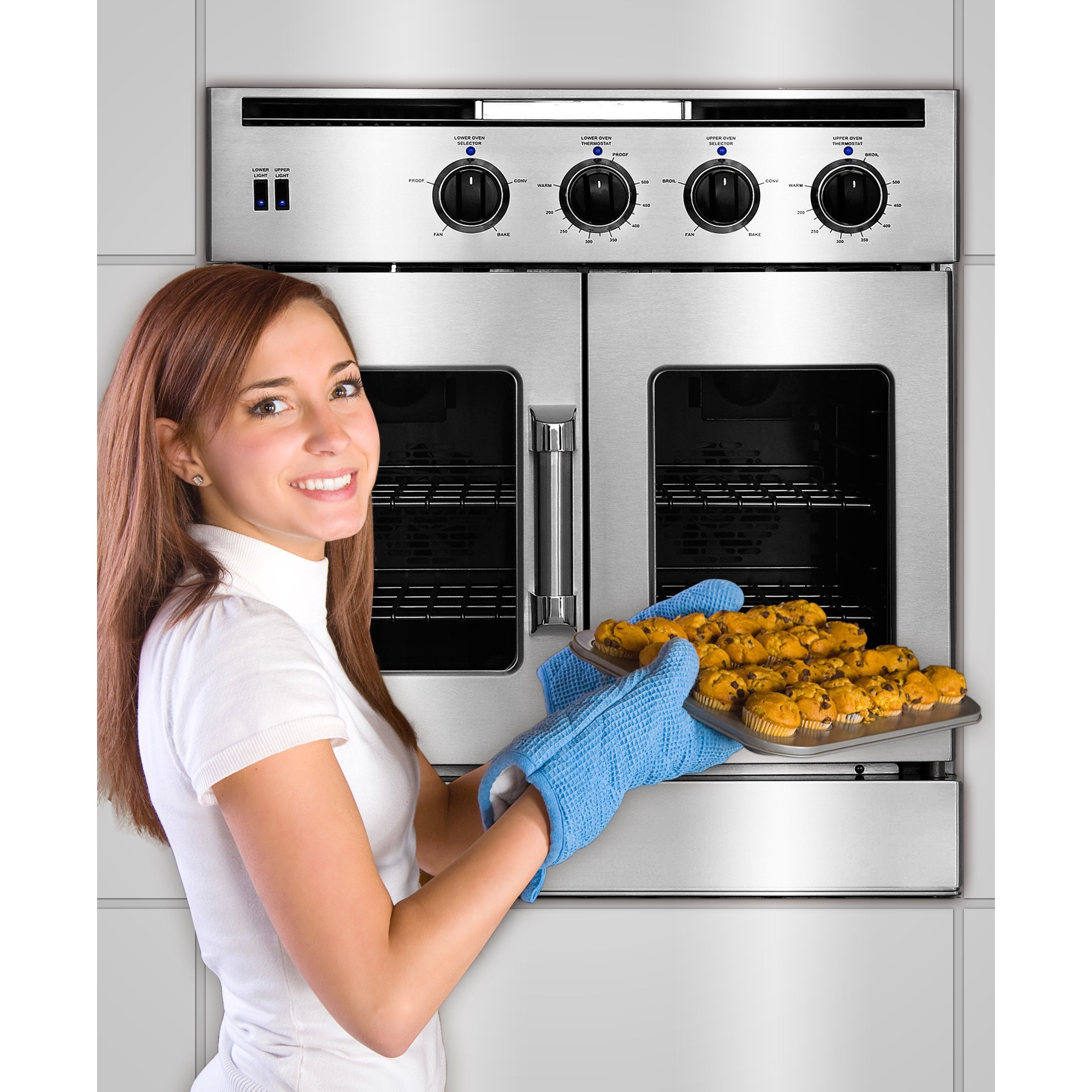 Gas Double Oven Wall American Range Legacy 30 Inch Double French Door Gas Wall Oven