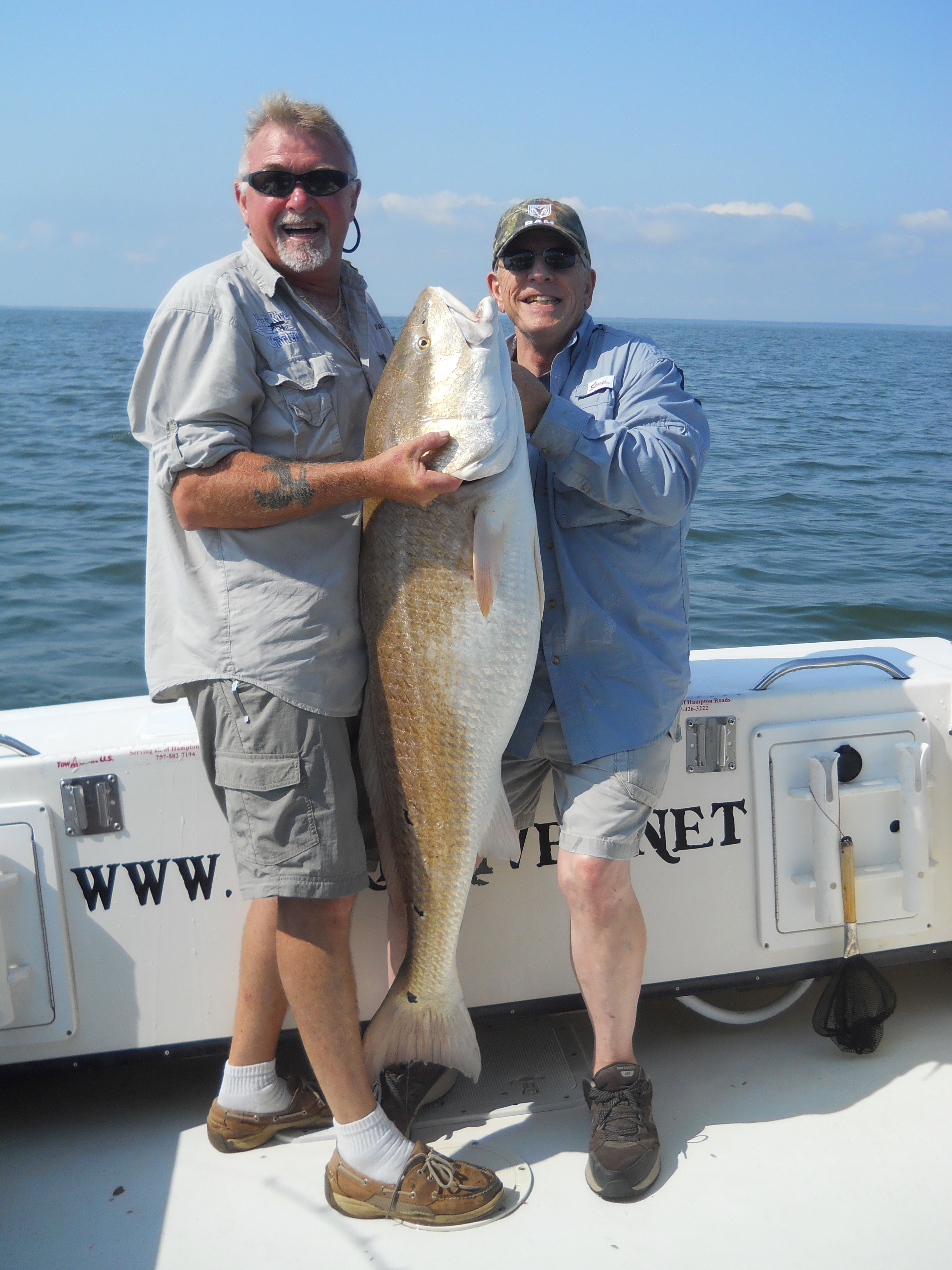 48 inch trophy red drum redfish chesapeake bay for Indian river inlet fishing tips
