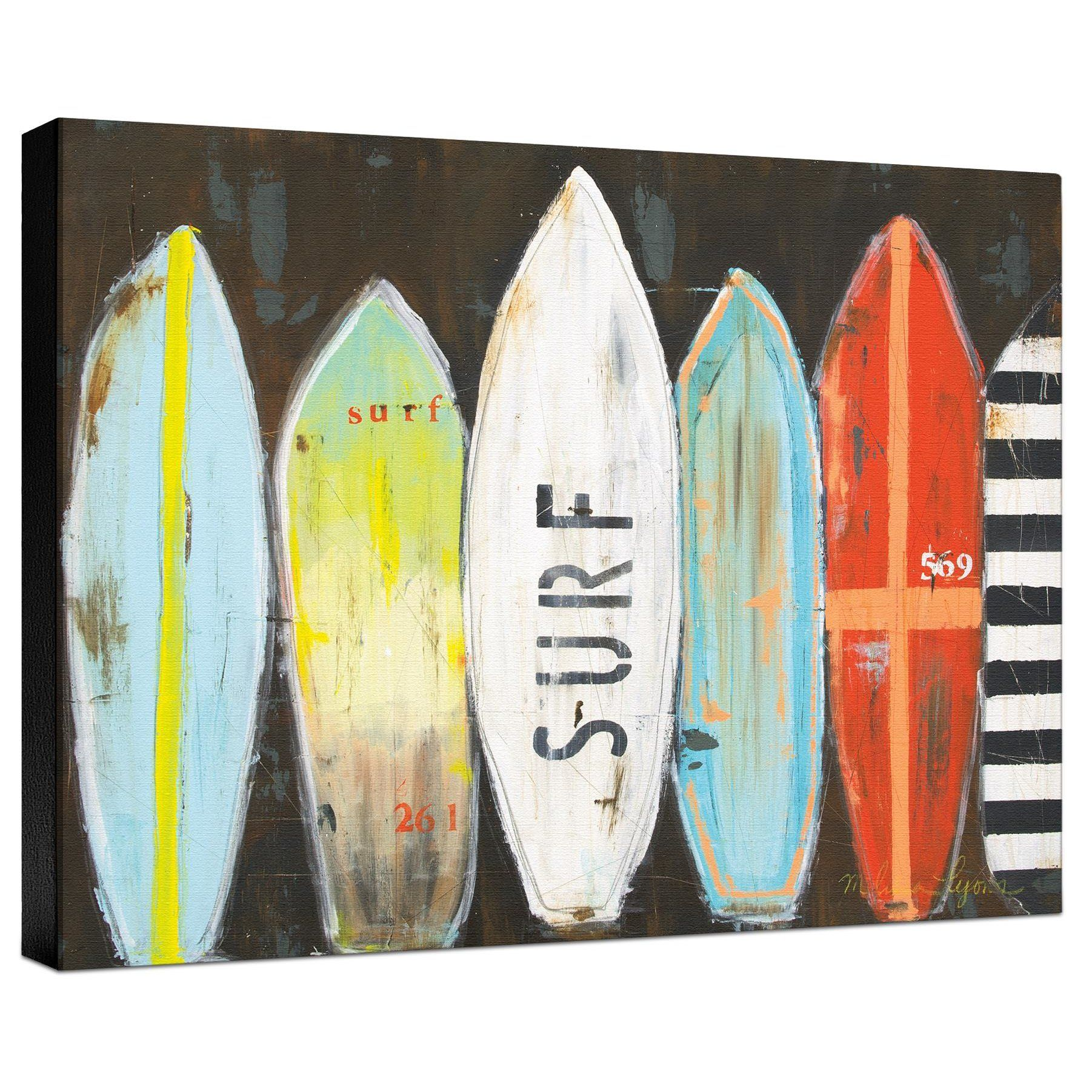 Ashton Wall Décor LLC \'Coastal Surfboards\' Painting Print on ...
