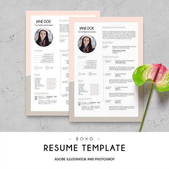 Printable Blank Resume Prepossessing Curriculum Vitae  Cv Design  Resume Template  Digital Print  Cv .
