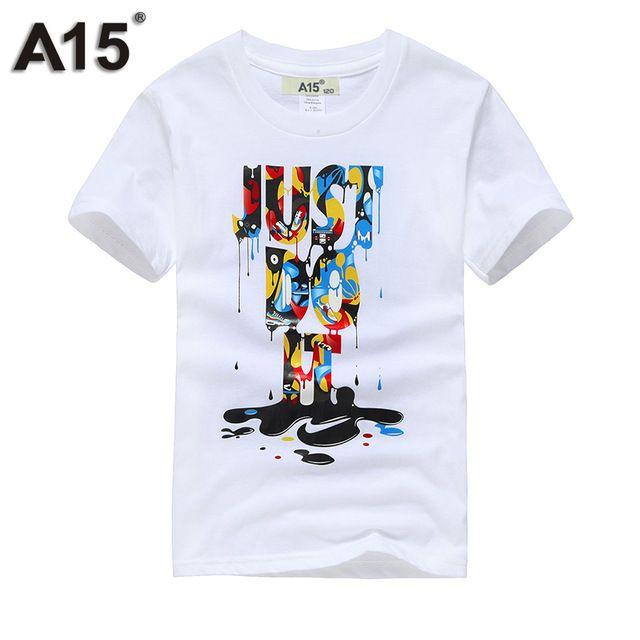 4b51bbff35 A15 Boy camisetas para Niños de Algodón de Verano 2017 3D Camisetas  Impresas para La Muchacha Embroma La Ropa camisetas de Manga Corta Camisetas  6 8 11 12 ...