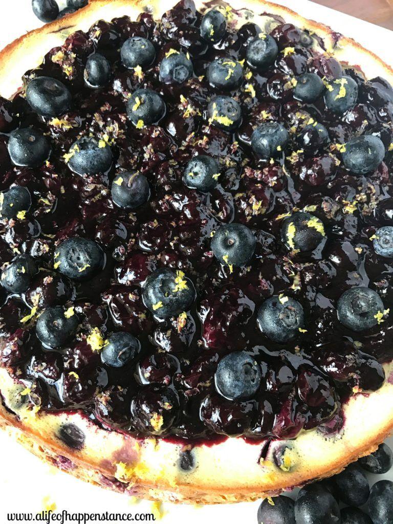 Lemon-Blueberry Cheesecake #lemonblueberrycheesecake