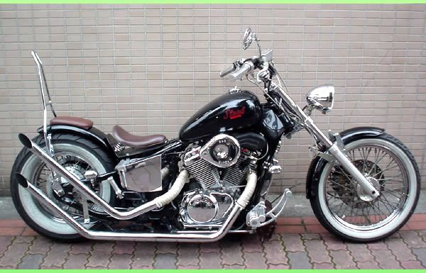 Honda Shadow Chopper VT600C (dig the sissy bar / pillion