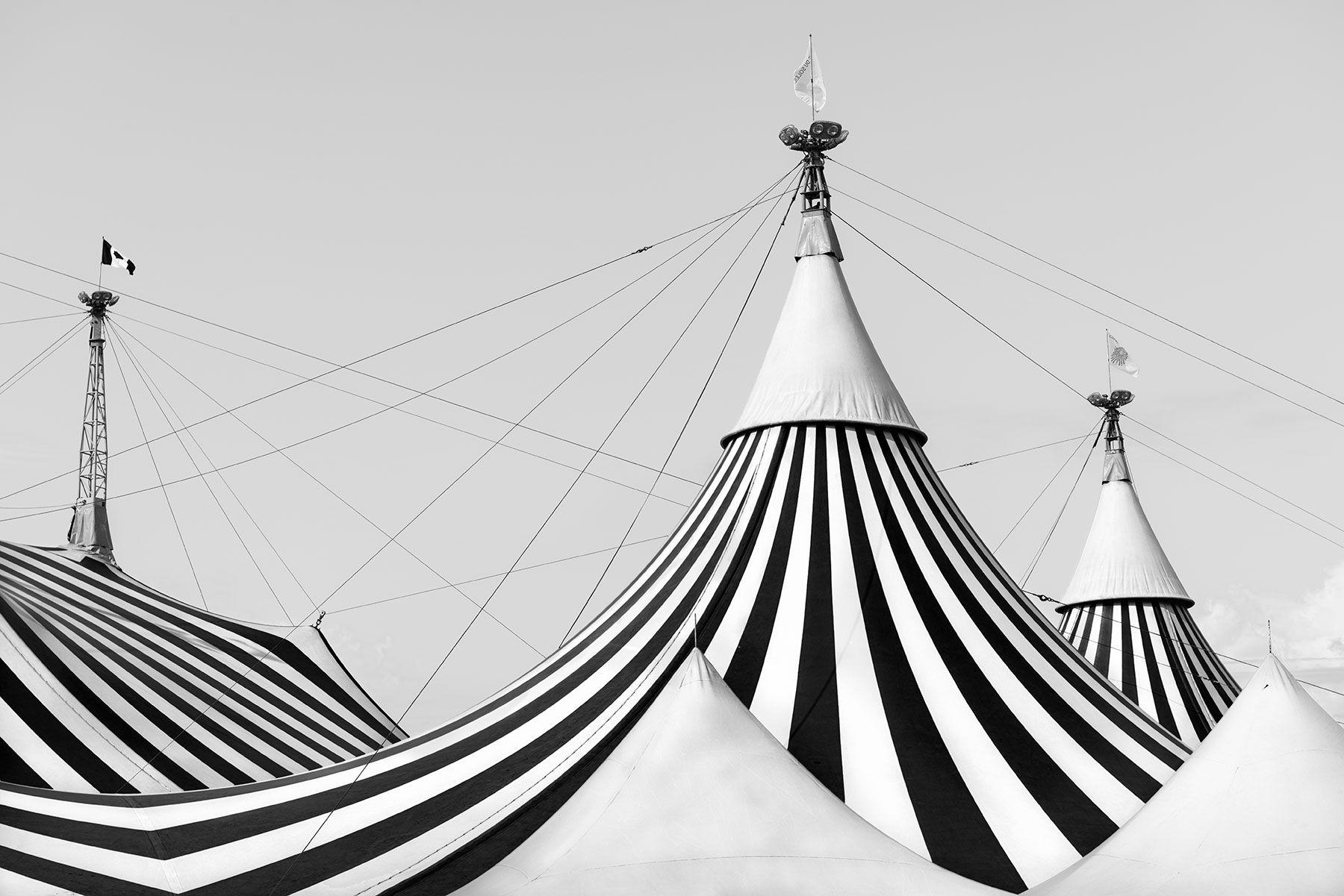 Cirque du Soleil (y del cielo) detalle de lona