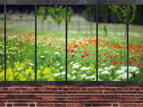 trompe l il d 39 une verri re la campagne verrieres pinterest verriere parement mural et. Black Bedroom Furniture Sets. Home Design Ideas