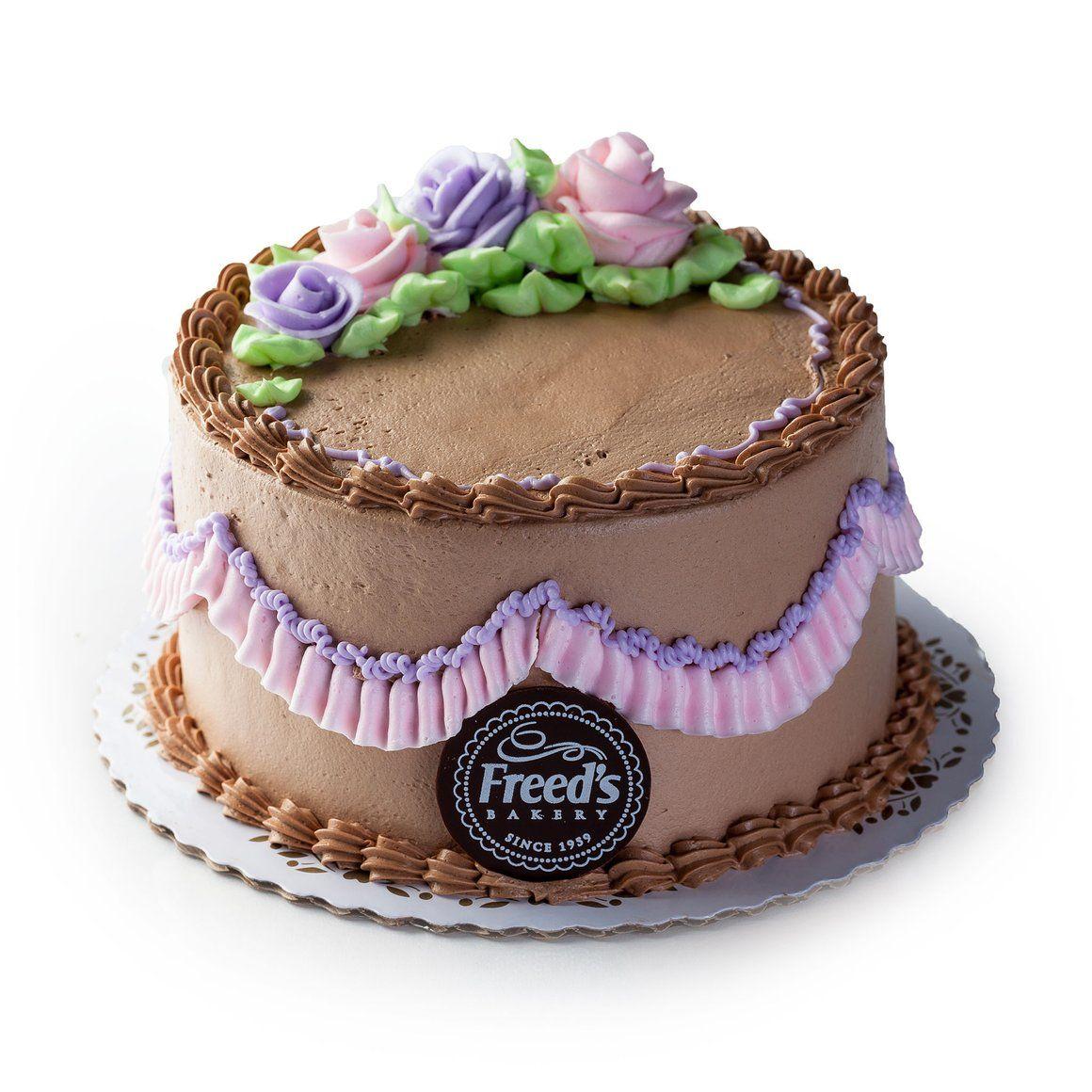 Chocolate lavender flowers cake chocolate buttercream