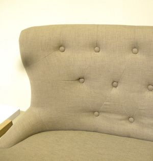 Canap� en tissu Briston Zenna Taupe