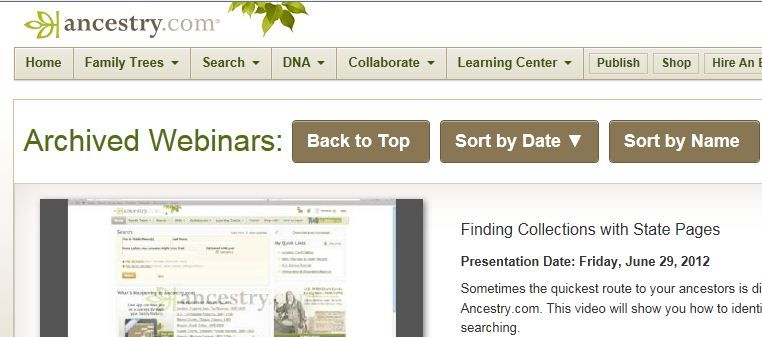 Ancestry.com has archived webinars to view.