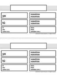 Image result for conjugation chart spanish blank also learning rh pinterest