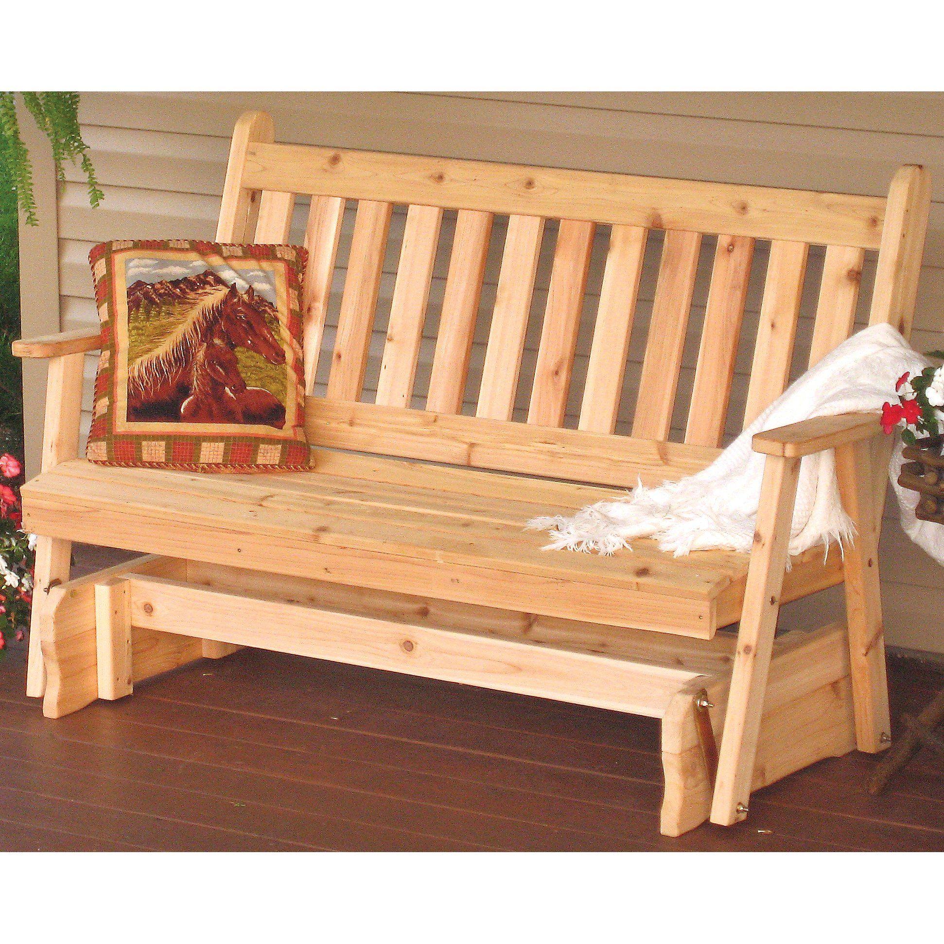 English Glider Bench. Outdoor FurnitureAmish FurnitureWestern ...