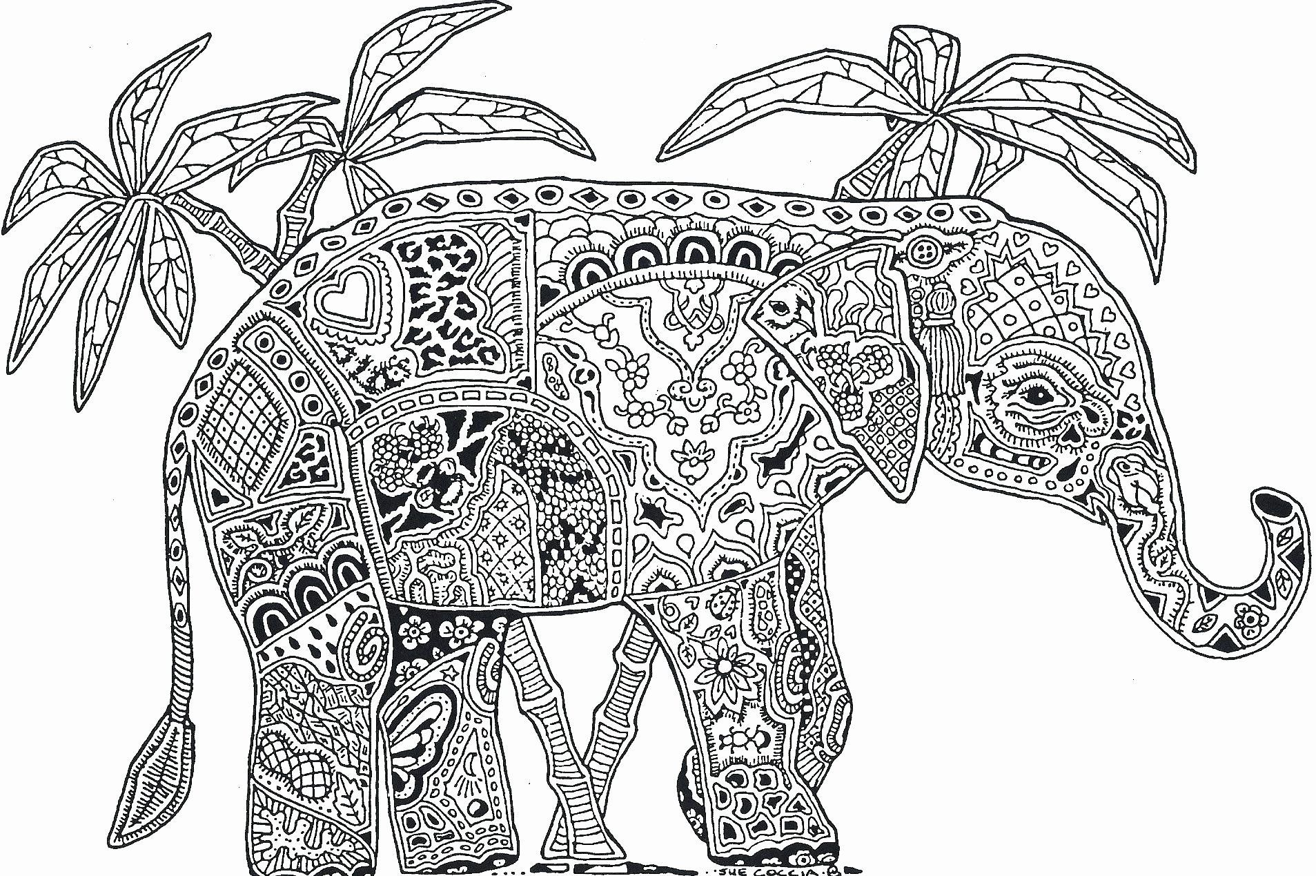 Hard Coloring Pictures Of Animals Luxury Coloring Pages Hard Animals Gallery Coloring For In 2020 Elephant Coloring Page Detailed Coloring Pages Animal Coloring Pages