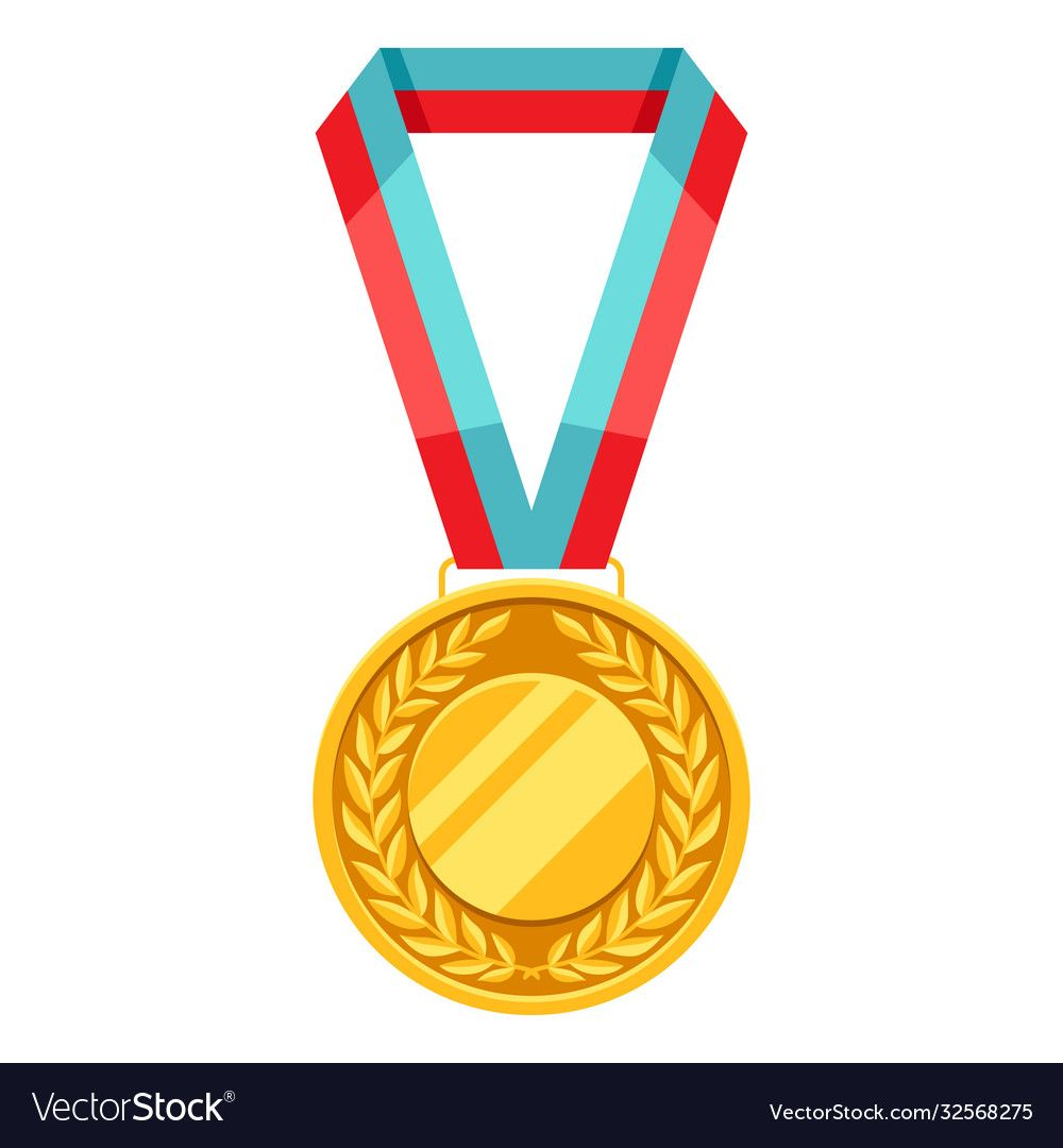 Gold Medal With Multi Colored Ribbon Illustration Of Award For Sports Or Corporate Competitions Download Sports Graphic Design Gold Medal Canvas Art Painting