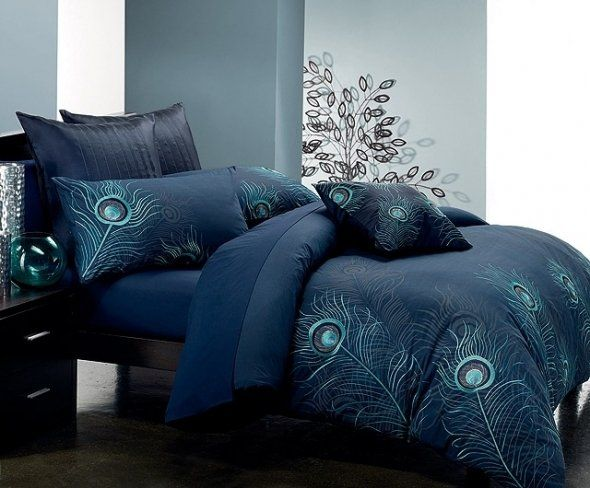 High Quality Seasons Collection Seven Piece Embroidered Duvet Cover Set In Jade And  Silver