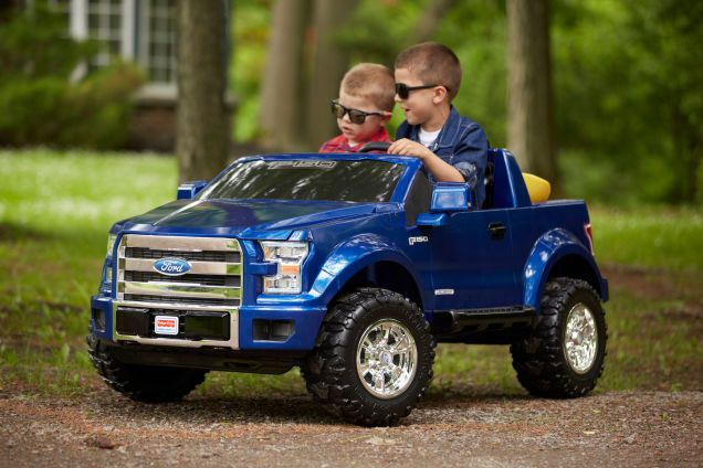 The Ford F 150 Power Wheels Truck Is For Rugged Little Boys And