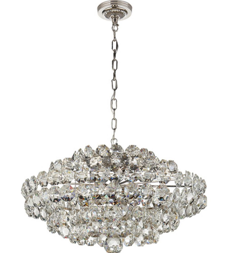 Visual Comfort ARN5105PN-CG AERIN Sanger Small Chandelier in Polished  Nickel with Crystal - Visual Comfort ARN5105PN-CG AERIN Sanger Small Chandelier In