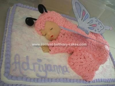 Homemade Baby Shower Cake: This Baby Shower Cake Is The Cake I Made For My  Sisteru0027s Baby Shower. I Had Found An Anne Geddes Ladybug Cake Off Of A  Different ...