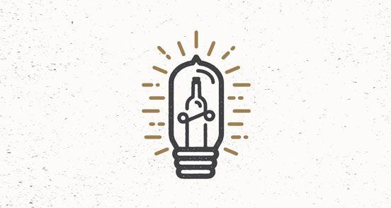 Illuminated Bottle   Logo Design   The Design Inspiration