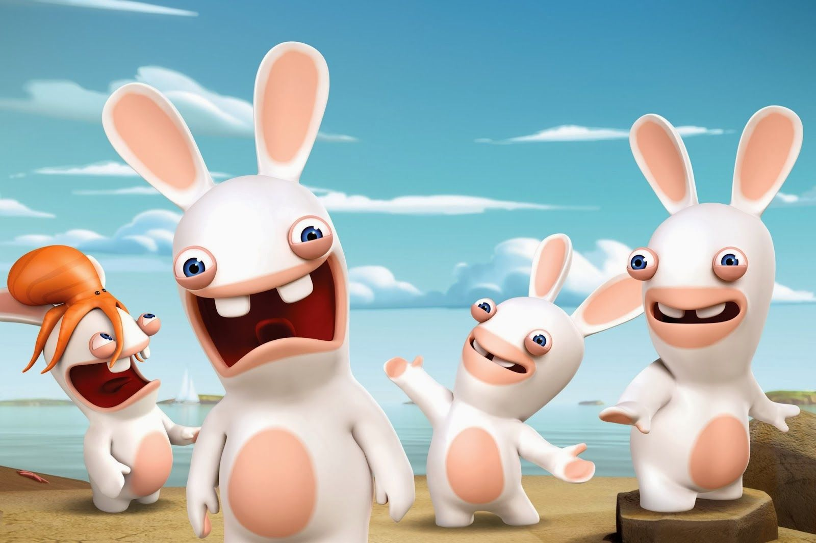 Ubisoft s wacky mischievous raving rabbids invade nickelodeon usa saturday august 2013 at a et pt during brand new animated series premiere rabbids