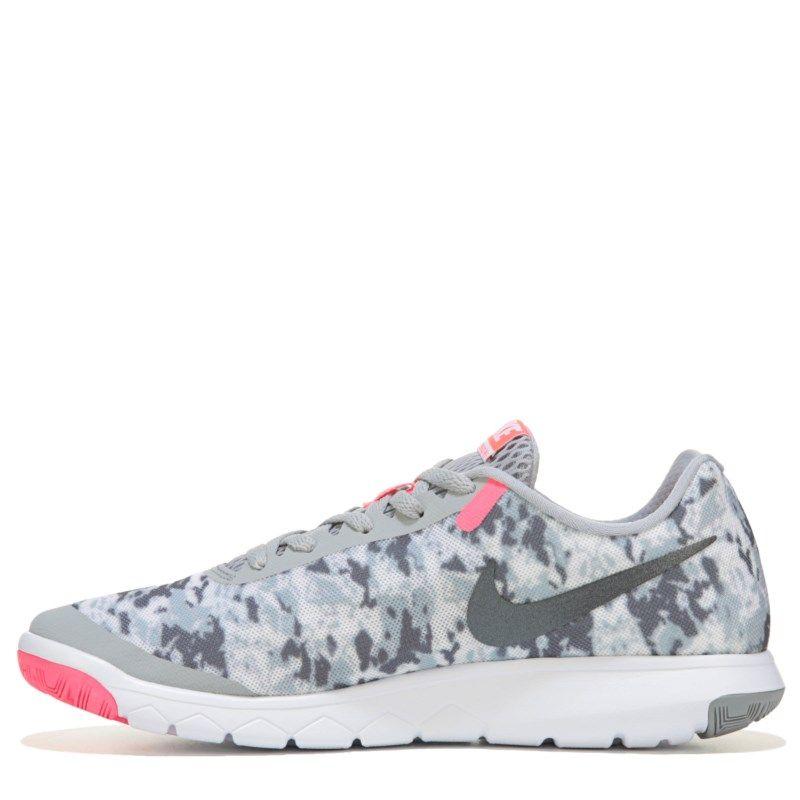 9fb29c5c150f Nike Women s Flex Experience RN 6 Running Shoes (Grey White Print) - 10.0