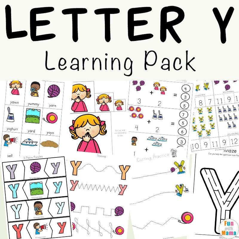 Letter Y Worksheets For Preschool + Kindergarten | Letter Y is for ...