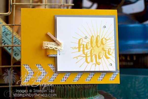 Wednesday, August 13th, 2014 by Kimberly: Stampin' Up! Hello There (Hostess)