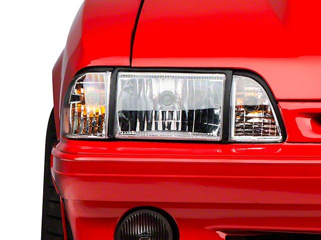 Ultra Clear Mustang Headlights 87 93 All Free Shipping Mustang Headlights Mustang Fox Body Mustang