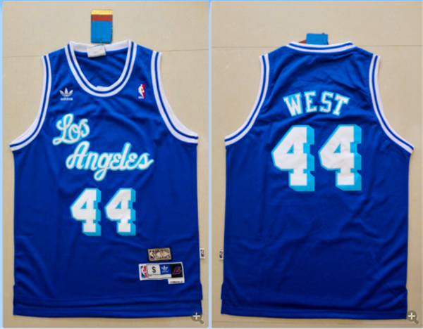 49694ad29e4 Los Angeles Lakers  44 Mitchell and Ness Swingman Jerry West Blue NBA Jersey