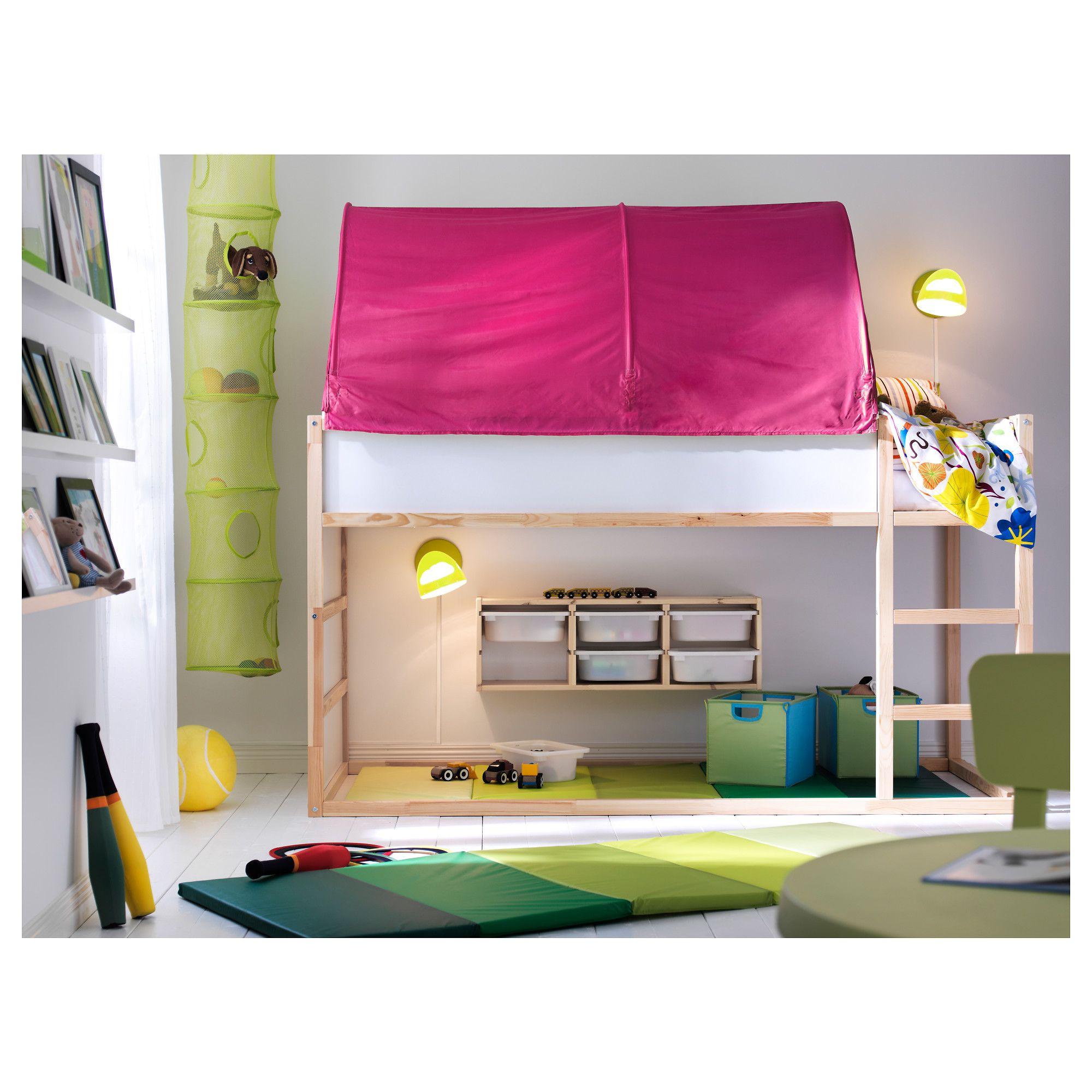 Best Kura Bed Tent Pink Diy Home Bed Tent Ikea Kura 640 x 480